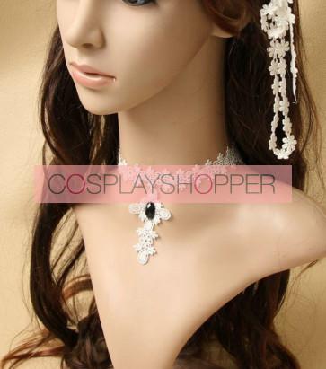 Pretty Concise White Lace Lolita Necklace