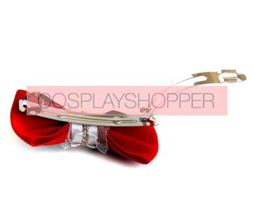 Punk Bow Bead Girls Handmade Lolita Hairpin