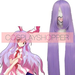 Purple 100cm Tonhou Project Reisen Udongein Inaba Nylon Cosplay Wig