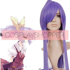 Purple 100cm Tonhou Project Watatsuki no Yorihime Nylon Cosplay Wig
