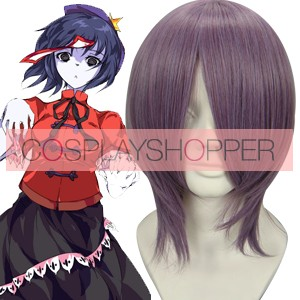 Purple 35cm Tonhou Project Miyako Yoshika Cosplay Wig