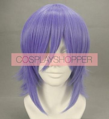 Purple 40cm Rosario + Vampire Mizore Shirayuki Cosplay Wig