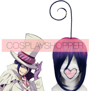 Purple Blue 35cm Ao No Exorcist Mephisto Pheles Cosplay Wig