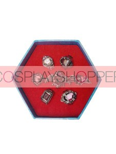 Purple Katekyo Hitman Reborn Cosplay Ring Set