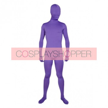 Purple Unicolor Full-Body Lycra Spandex Zentai Suit