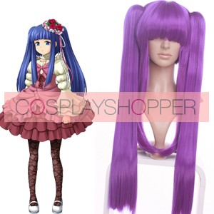 Purple When They Cry 3 Erika Furudo Nylon Cosplay Wig