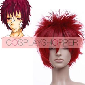 Red 30cm Katekyo Hitman Reborn! Kozato Enma Cosplay Wig