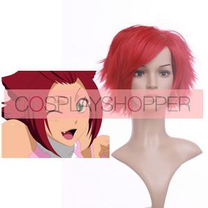 Red 32cm Bleach Haineko Nylon Cosplay Wig