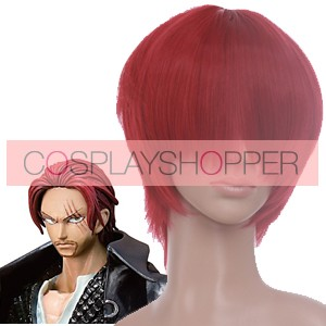Red 32cm One Piece Shanks Cosplay Wig