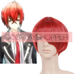 Red 32cm Starry Sky Tomoe Yoh Nylon Cosplay Wig