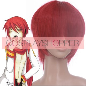 Red 32cm Vocaloid Akaito Cosplay Wig