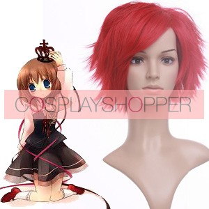 Red 32cm When They Cry 3 Umineko no Naku Koro ni Ushiromiya Maria Nylon Cosplay Wig