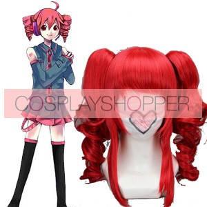 Red 40cm Vocaloid Teto Cosplay Wig