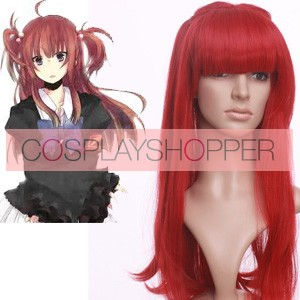 Red 60cm When They Cry 3 Umineko no Naku Koro ni Ange Ushiromiya Nylon Cosplay Wig