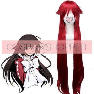 Red 90cm Pandora Hearts Alice Cosplay Wig