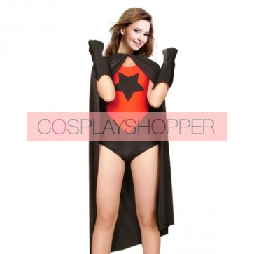 Red And Black Lycra Spandex Superhero Zentai Suit