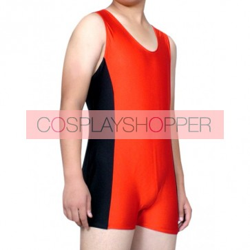 Red And Black Lycra Spandex Unisex Zentai Suit