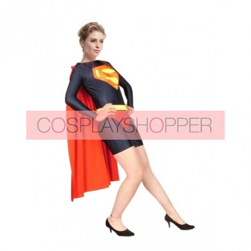 Red And Black Superwoman Lycra Spandex Superhero Zentai Suit