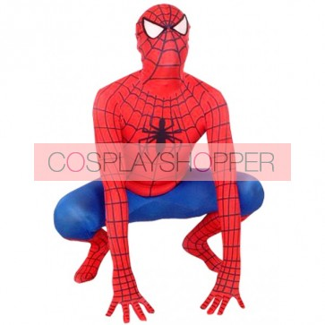 Red And Blue Spiderman Lycra Spandex Zentai Suit