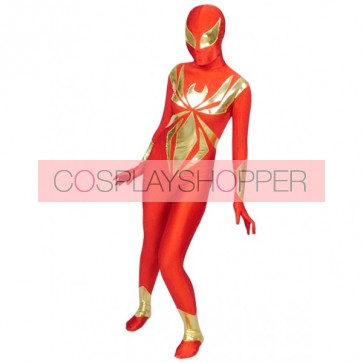 Red And Gold Spiderman Lycra Spandex Zentai Suit