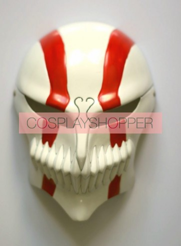 Red Bleach Ichigo Vizored PVC Cosplay Hollow Mask