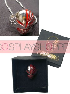 Red Bleach Urosaki Ichigo Hollows Alloy Anime Ring Necklace With Box