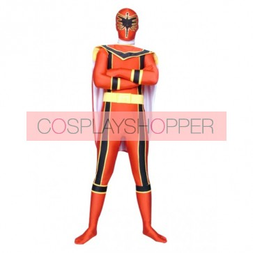 Red Force Power Ranger Lycra Spandex Superhero Zentai Suit