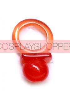 Red Hitman Reborn Nipple Synthetic Opal Cosplay Ring