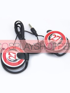 Red Katekyo Hitman Reborn Cosplay Earphone