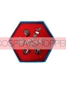 Red Katekyo Hitman Reborn Cosplay Ring Set
