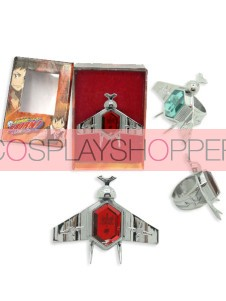 Red Katekyo Hitman Reborn Simon Family Ring Set
