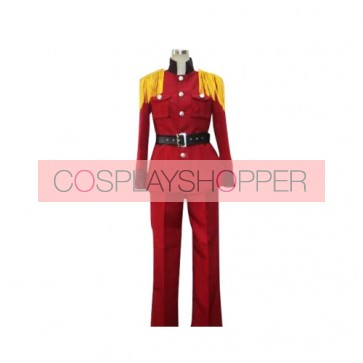Axis Powers Hetalia Red Latvia Cosplay Costume