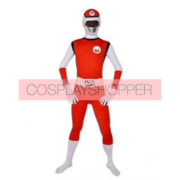 Red Lycra Spandex Leotard Superhero Zentai Suit