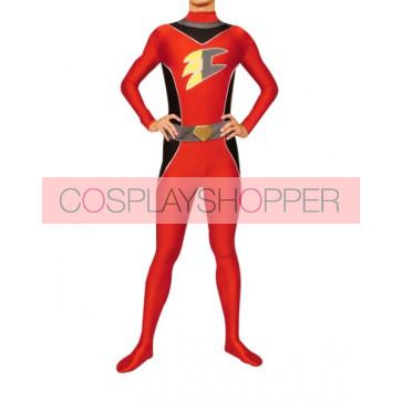 Red Lycra Spandex Unisex Superhero Zentai Suit