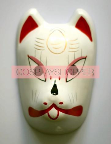 Red Naruto Anbu Fox PVC Cosplay Mask