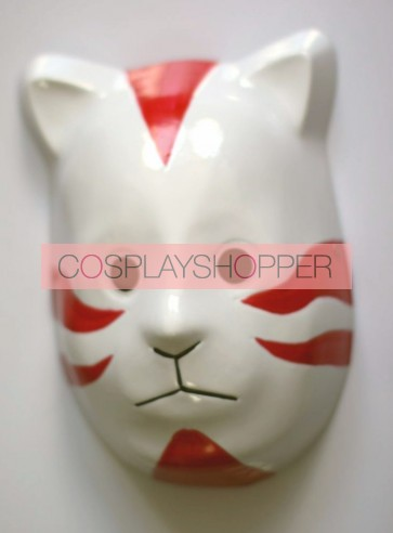 Red Naruto Anbu Cat PVC Cosplay Mask