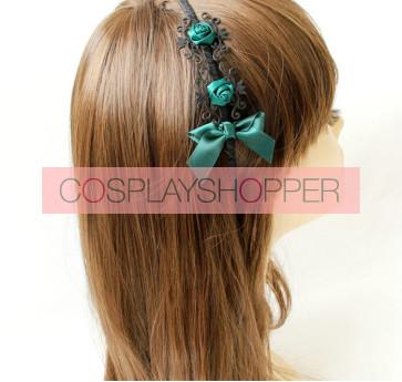 Retro Dark Green Handmade Lolita Headband