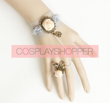 Retro Rose Lady Handmade Lolita Bracelet And Ring Set