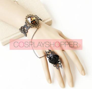 Retro Western Style Lady Handmade Lolita Bracelet And Ring Set