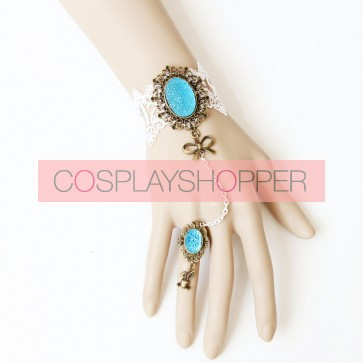 Romantic Lace Bow Handmade Lolita Bracelet And Ring Set