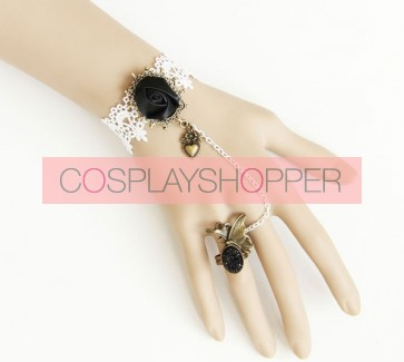 Romantic Retro Floral Lady Lolita Bracelet And Ring Set
