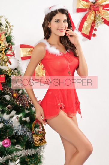 Sexy Acrylic Spandex Adult Christmas Dress