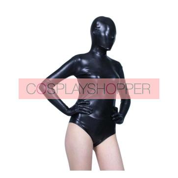 Sexy Black Half Body PVC Zentai Suit