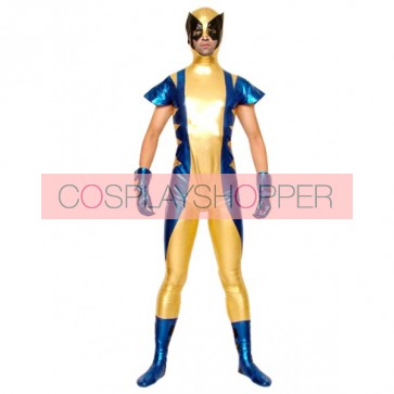 Sexy Full Body Shiny Metallic Unisex Zentai Suit