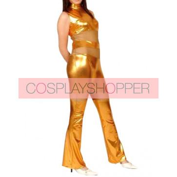 Sexy Golden Full Body Shiny Metallic Unisex Zentai Suit