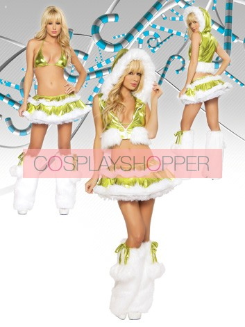 Sexy Green Santa Girls Christmas Outfit