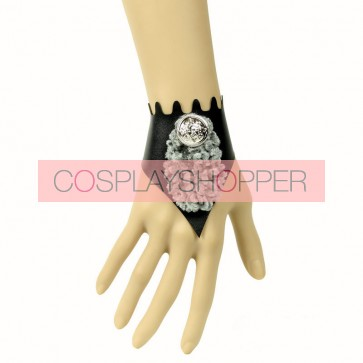 Sexy Leather Button Lady Lolita Wrist Strap
