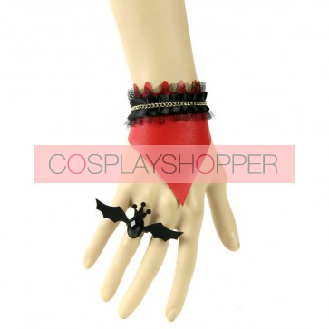 Sexy Leather Chain Lady Lolita Bracelet And Ring Set