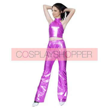 Sexy Purple Shiny Metallic Unisex Zentai Suit