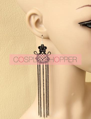 Sexy Queen Metal Chain Lolita Earrings